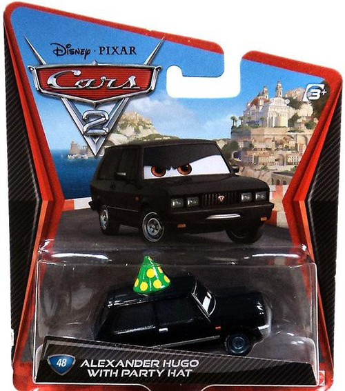 Disney / Pixar Cars Cars 2 Main Series Alexander Hugo with Party Hat Exclusive Diecast Car