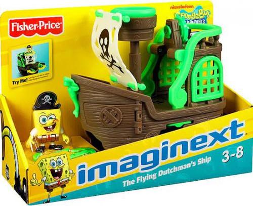 Fisher Price Spongebob Squarepants Imaginext Flying Dutchman's Ship Exclusive Vehicle Set