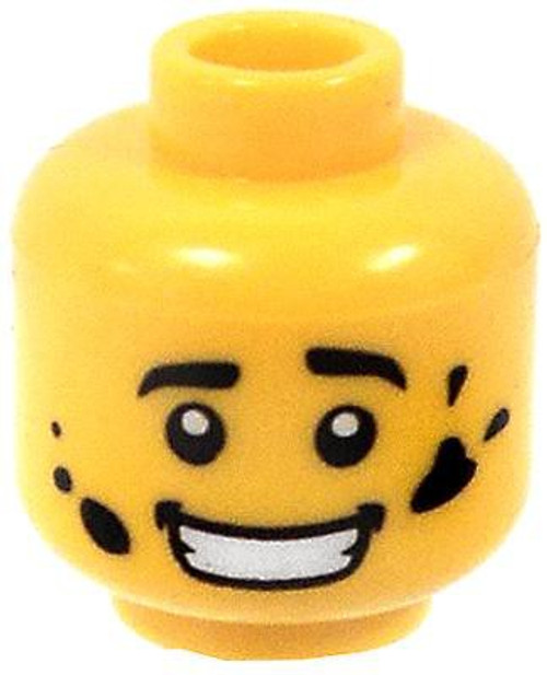 Grease Stains Minifigure Head [Yellow Loose]