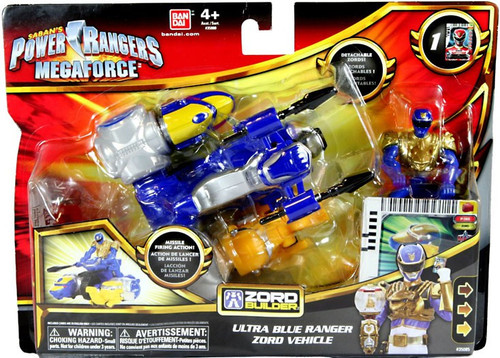 Power Rangers Megaforce Zord Builder Ultra Blue Ranger Zord Vehicle Action Figure Set