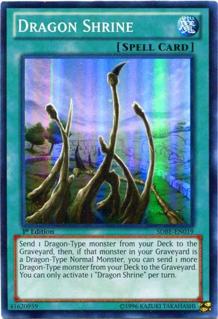 YuGiOh Saga of Blue-Eyes White Dragon Structure Deck Super Rare Dragon Shrine SDBE-EN019