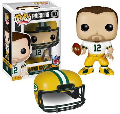 Funko NFL Green Bay Packers POP! Sports Football Aaron Rodgers Vinyl Figure #10 [White Jersey]