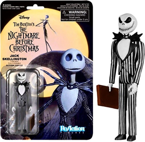 Funko Nightmare Before Christmas ReAction Jack Skellington Action Figure [Wicked Smile]