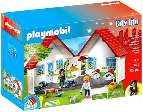 Playmobil City Life Take Along Pet Shop Set #5672