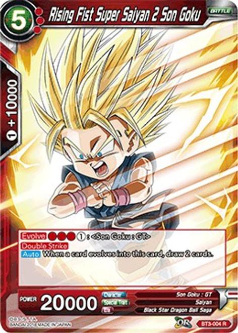 Dragon Ball Super Collectible Card Game Cross Worlds Rare Rising Fist Super Saiyan 2 Son Goku BT3-004