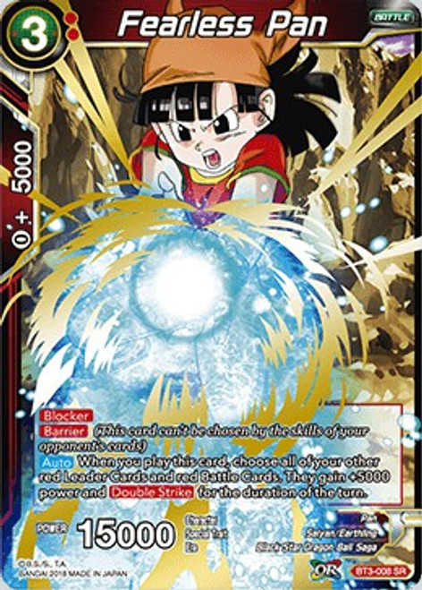 Dragon Ball Super Collectible Card Game Cross Worlds Super Rare Fearless Pan BT3-008
