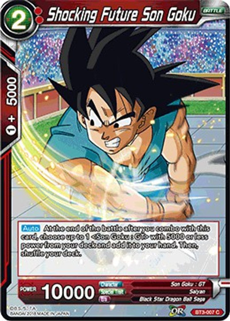 Dragon Ball Super Collectible Card Game Cross Worlds Common Shocking Future Son Goku BT3-007