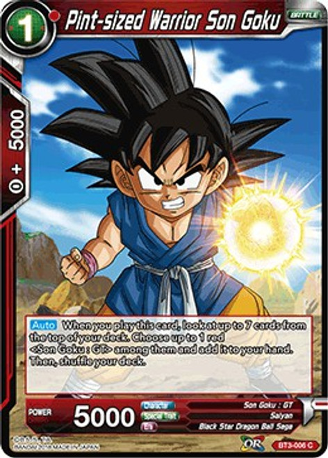 Dragon Ball Super Collectible Card Game Cross Worlds Common Pint-sized Warrior Son Goku BT3-006