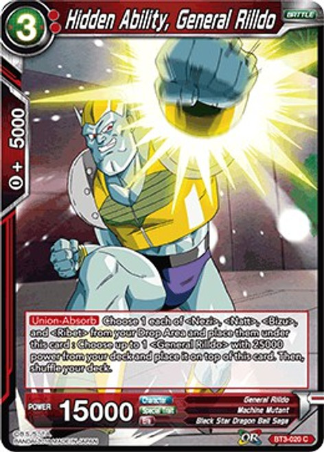 Dragon Ball Super Collectible Card Game Cross Worlds Common Hidden Ability, General Rilldo BT3-020