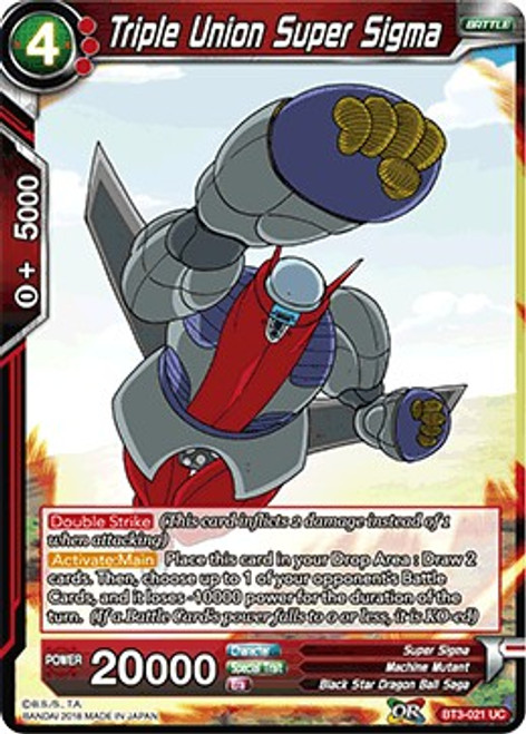Dragon Ball Super Collectible Card Game Cross Worlds Uncommon Triple Union Super Sigma BT3-021