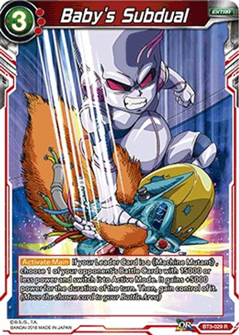 Dragon Ball Super Trading Card Game Cross Worlds Rare Baby's Subdual BT3-029