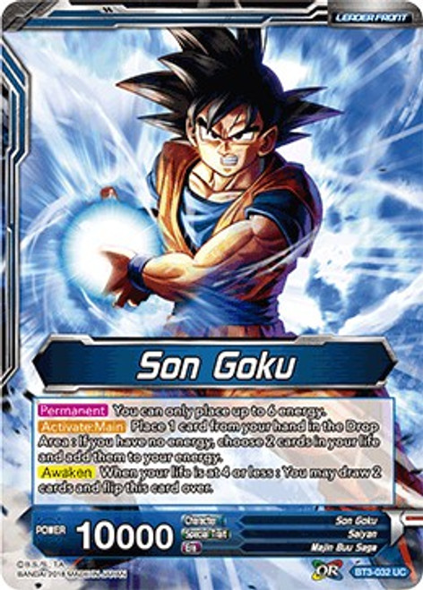 Dragon Ball Super Collectible Card Game Cross Worlds Uncommon Son Goku BT3-032