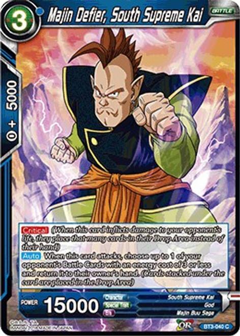 Dragon Ball Super Collectible Card Game Cross Worlds Common Majin Defier, South Supreme Kai BT3-040