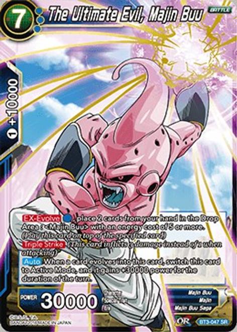 Dragon Ball Super Collectible Card Game Cross Worlds Super Rare The Ultimate Evil, Majin Buu BT3-047