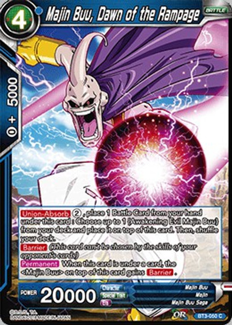 Dragon Ball Super Collectible Card Game Cross Worlds Common Majin Buu, Dawn of the Rampage BT3-050