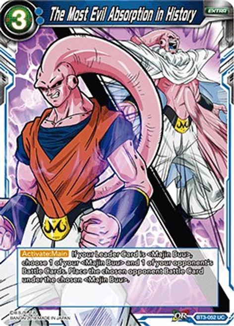 Dragon Ball Super Collectible Card Game Cross Worlds Uncommon The Most Evil Absorption in History BT3-052