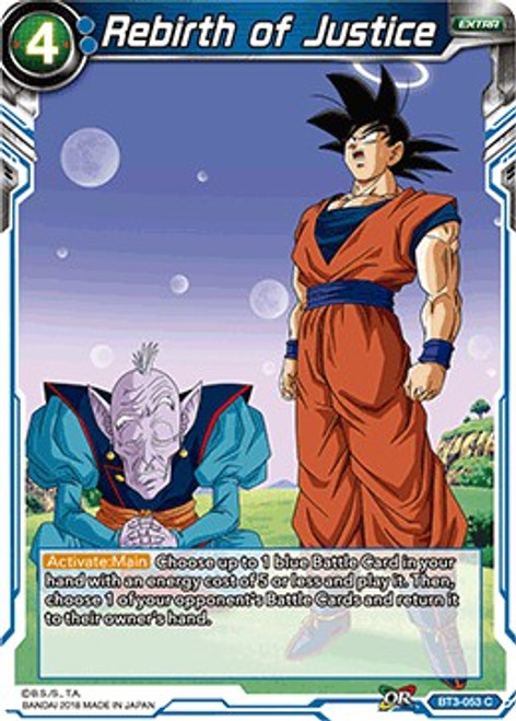 Dragon Ball Super Trading Card Game Cross Worlds Common Rebirth of Justice BT3-053