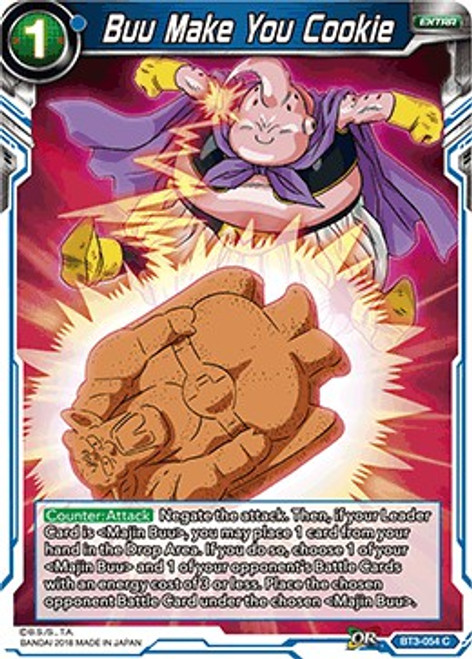 Dragon Ball Super Collectible Card Game Cross Worlds Common Buu Make You Cookie BT3-054