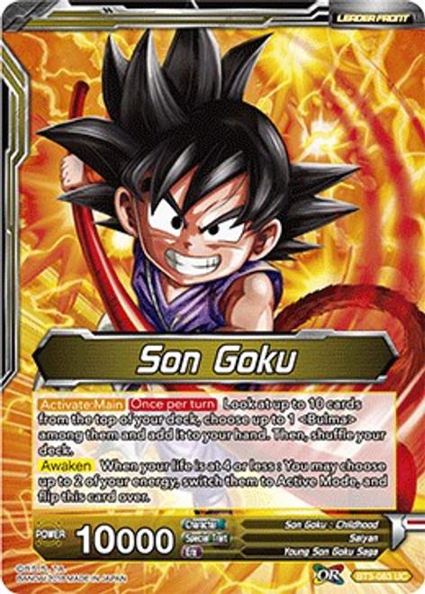 Dragon Ball Super Trading Card Game Cross Worlds Uncommon Son Goku BT3-083