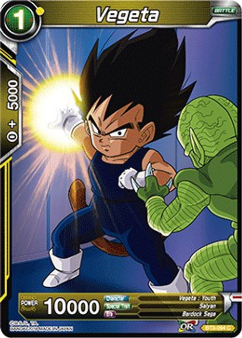 Dragon Ball Super Collectible Card Game Cross Worlds Common Vegeta BT3-094