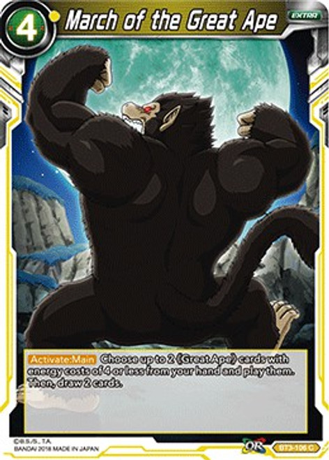 Dragon Ball Super Collectible Card Game Cross Worlds Common March of the Great Ape BT3-106