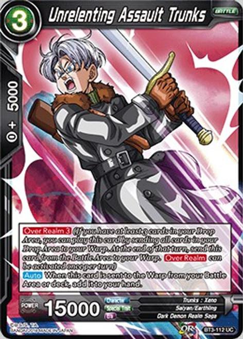 Dragon Ball Super Trading Card Game Cross Worlds Uncommon Unrelenting Assault Trunks BT3-112