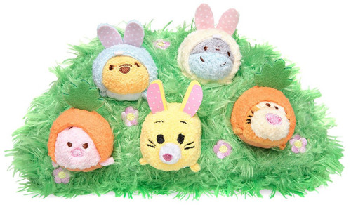 Disney Tsum Tsum Winnie the Pooh and Pals Easter 3.5-Inch Set of 5 Mini Plush