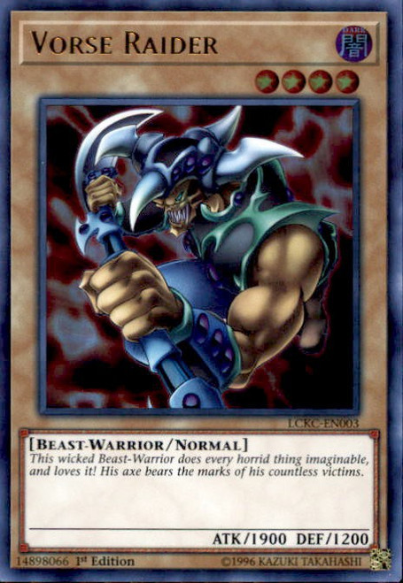YuGiOh Kaiba Legendary Collection Ultra Rare Vorse Raider LCKC-EN003