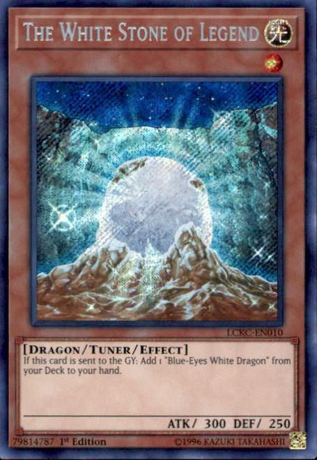 YuGiOh Kaiba Legendary Collection Secret Rare The White Stone of Legend LCKC-EN010