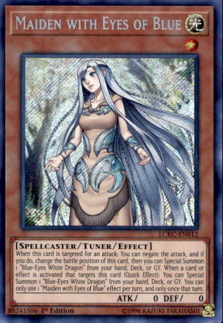 YuGiOh Kaiba Legendary Collection Secret Rare Maiden with Eyes of Blue LCKC-EN012