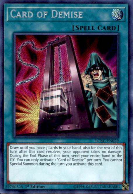 YuGiOh Kaiba Legendary Collection Secret Rare Card of Demise LCKC-EN029