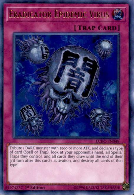 YuGiOh Kaiba Legendary Collection Ultra Rare Eradicator Epidemic Virus LCKC-EN048