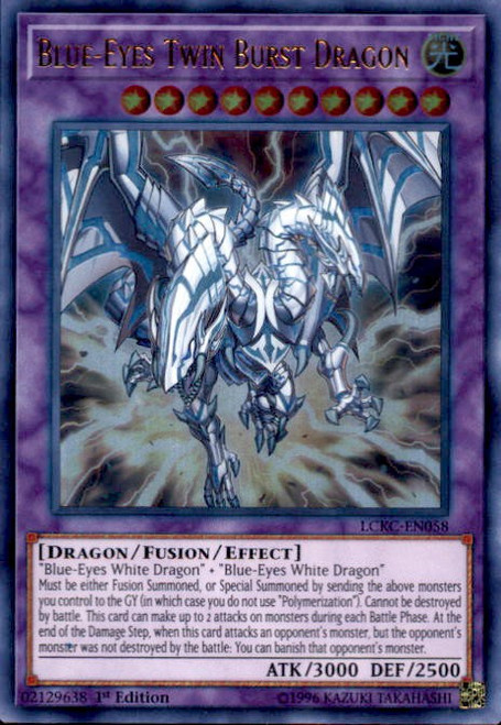 YuGiOh Kaiba Legendary Collection Ultra Rare Blue-Eyes Twin Burst Dragon LCKC-EN058