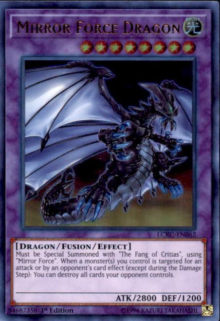 YuGiOh Kaiba Legendary Collection Ultra Rare Mirror Force Dragon LCKC-EN062