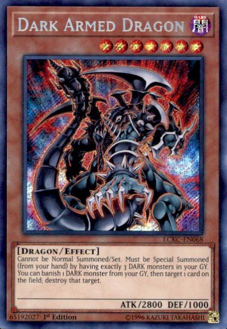 YuGiOh Kaiba Legendary Collection Secret Rare Dark Armed Dragon LCKC-EN068