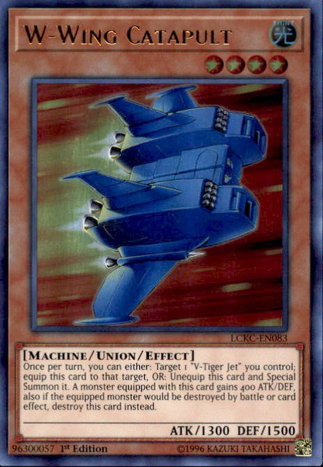 Yu-Gi-Oh Ultra Rare VW-Tiger Catapult Set V Jet W Wing LCKC NM