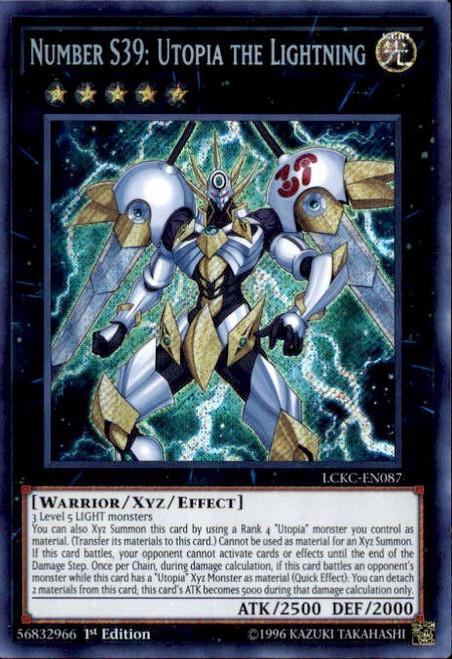 YuGiOh Kaiba Legendary Collection Secret Rare Number S39: Utopia the Lightning LCKC-EN087