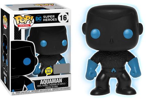 Funko DC POP! Heroes Aquaman Vinyl Figure [Silhouette Glow-in-the-Dark, Damaged Package]