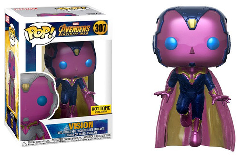 Funko Avengers Infinity War POP! Marvel Vision Exclusive Vinyl Bobble Head #307