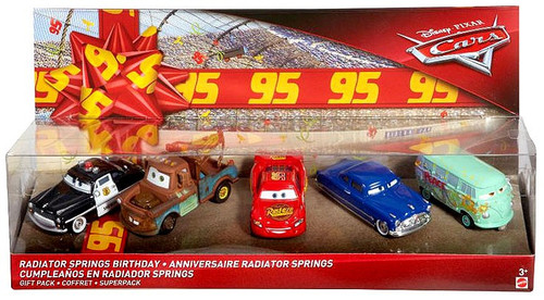 Disney / Pixar Cars Cars 3 Radiator Springs Birthday Exclusive Diecast Car 5-Pack