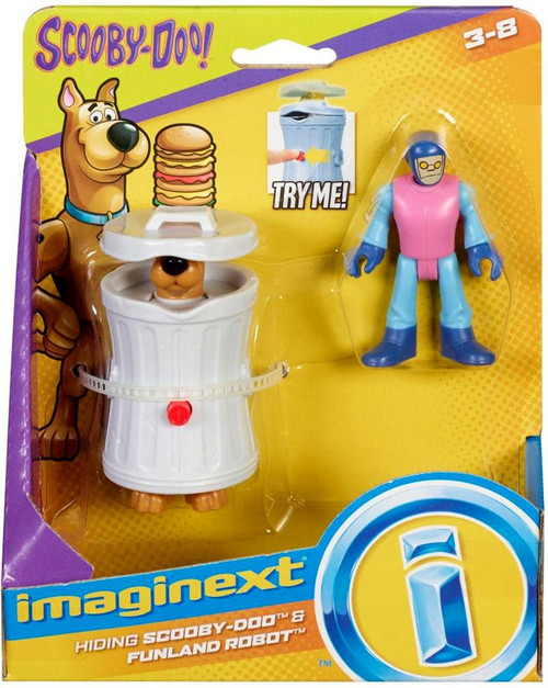 Fisher Price Scooby Doo Imaginext Hiding Scooby-Doo & Funland Robot 3-Inch Mini Figure 2-Pack