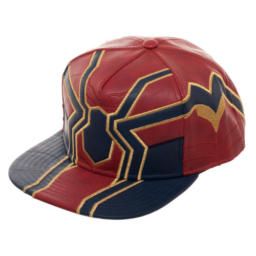 Marvel Avengers Infinity War Iron Spider Suit Up PU Snapback Cap