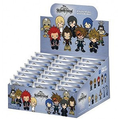 Disney 3D Figural Keyring Kingdom Hearts Series 3 Mystery Box [24 Packs]