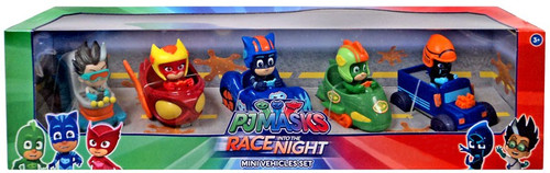 Disney Junior PJ Masks Race into the Night Exclusive Mini Vehicle 5-Pack Set