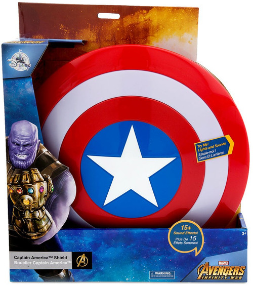 Disney Marvel Avengers Infinity War Captain America Shield Exclusive Roleplay Toy