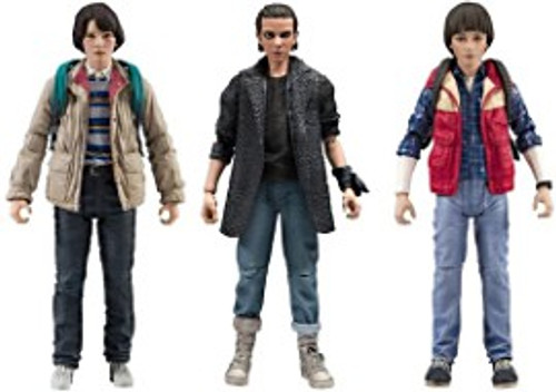 McFarlane Toys Stranger Things Series 3 Punk Eleven, Will & Mike Set of 3 Action Figures