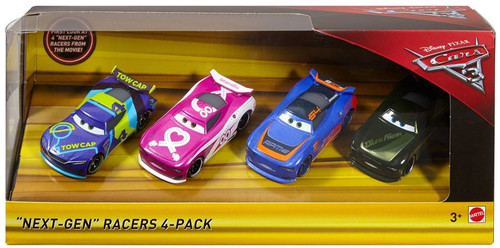 "Disney / Pixar Cars Cars 3 ""Next-Gen"" Racers Exclusive Diecast Car 4-Pack [J.D. McPillar, Flip Dover, Barry DePedal & Steve ""Slick"" LaPage]"