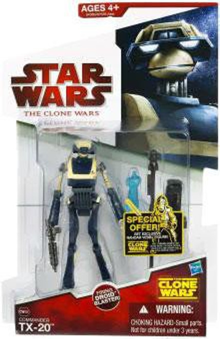 Star Wars The Clone Wars 2009 TX-20 Tactical Droid Action Figure CW46