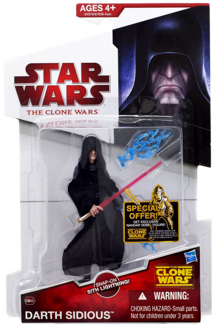 Star Wars The Clone Wars 2009 Darth Sidious Action Figure CW45