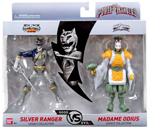 Power Rangers Good Vs. Evil Silver Ranger & Madame Odius Action Figure 2-Pack